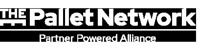 pallet network logo in white